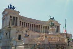 胜者伊曼纽尔II纪念碑在罗马 意大利 免版税库存图片