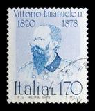 胜者伊曼纽尔II,著名意大利人serie,大约1978年 免版税库存图片