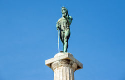 胜者纪念碑在贝尔格莱德 库存照片