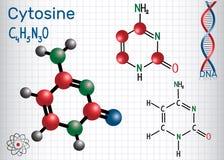 胞嘧啶C -嘧啶nucleobase,基本元件 库存例证
