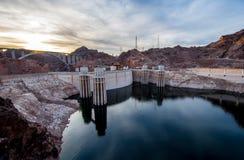 胡佛水坝、内华达和亚利桑那,美国 库存图片