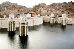 胡佛水坝的全视图 图库摄影