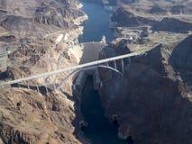 胡佛水坝,从直升机看见的内华达 库存图片