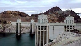 胡佛水坝和科罗拉多河史诗射击  股票视频
