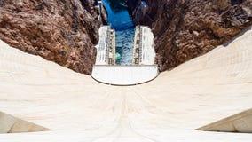 胡佛水坝在内华达,美国 免版税库存照片