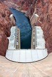 胡佛水坝在西南美国 库存照片