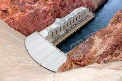 胡佛水坝在西南美国 免版税库存照片