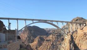 胡佛水坝旁路桥梁 免版税库存照片