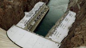 胡佛水坝电驻地从上面 股票录像