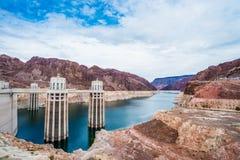 胡佛水坝的看法 库存图片