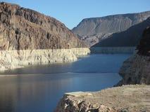 胡佛水坝的2米德湖 图库摄影