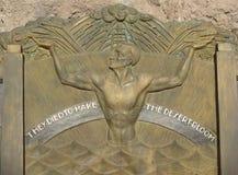 胡佛水坝艺术装饰纪念品 库存照片