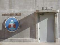 胡佛水坝艺术装饰建筑学 库存照片