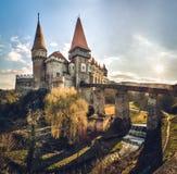 从胡内多阿拉,罗马尼亚, 14世纪的Corvin城堡 免版税图库摄影
