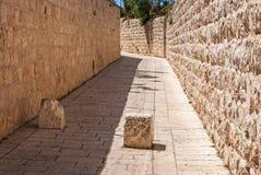 胡同古老耶路撒冷犹太季度 图库摄影