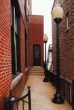 胡同在克莱顿,纽约 免版税图库摄影