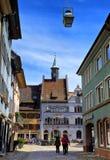 胡同在布赖斯高地区施陶芬Schwarzwald德国 库存图片