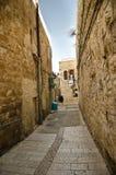 胡同在老市耶路撒冷 库存图片