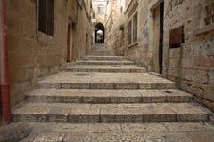 胡同在老耶路撒冷 库存图片