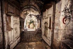 胡同在耶路撒冷 库存图片