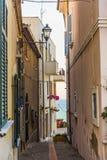 胡同在西尔维帕埃塞意大利 免版税图库摄影