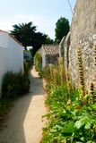 胡同在Noirmoutier 库存照片