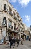 胡同城市老耶路撒冷 库存照片