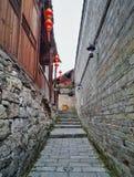 胡同街道在老镇5 免版税库存图片