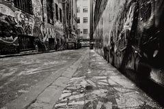 胡同街道画 库存照片