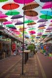 胡同高昂伞在索契,爱德乐 库存图片