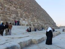 胡夫金字塔在开罗 免版税库存照片