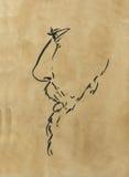 胡子人草图