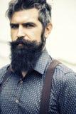 胡子英俊的人 库存照片