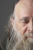 胡子长的人前辈 免版税库存照片