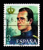 胡安・卡洛斯一世, serie国王的宣布,大约1975年 免版税库存图片