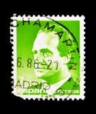 胡安・卡洛斯一世, serie国王,大约1986年 免版税库存照片