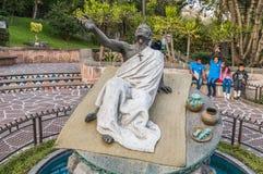胡安地亚哥喷泉和雕塑  库存照片