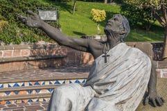 胡安地亚哥喷泉和雕塑  图库摄影