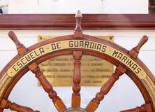 胡安塞巴斯蒂安Elcano舵 免版税库存图片