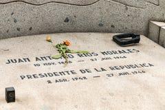 胡安安东尼奥莫拉莱斯,国家公墓,圣地亚哥,智利坟墓  库存图片