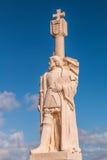 胡安Cabrillo国家历史文物的罗德里格斯Cabrillo雕象  免版税库存照片