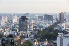 胡志明市都市风景  库存照片