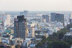 胡志明市都市风景  库存图片