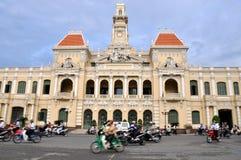 胡志明市霍尔和街道视图,越南 库存图片