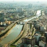 胡志明市顶视图  图库摄影