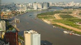 胡志明市顶视图从Bitexco财政塔的 库存图片