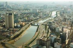 胡志明市顶视图从Bitexco财政塔的 免版税图库摄影