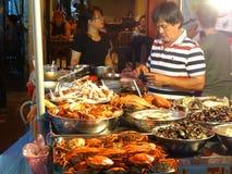 胡志明市,西贡,越南拥挤的街  免版税库存图片