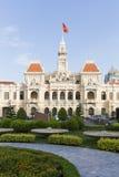 胡志明市,越南人民的委员会大厦  免版税库存照片