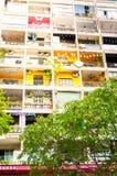 胡志明市,越南, 12,26,2017明亮的异常的房子 免版税图库摄影